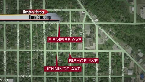 3 shootings happen overnight in Benton Harbor, 4 people injured