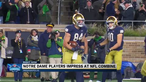 9 Notre Dame Players attend 2020 NFL combine, show off their...