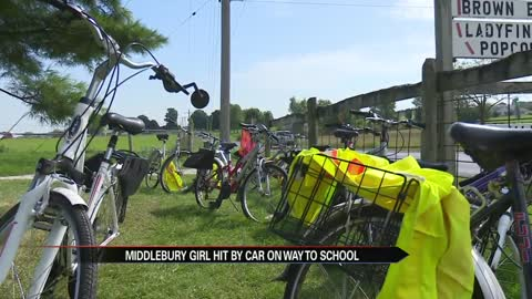 Middlebury girl hit by car on way to school
