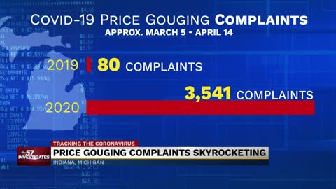 ABC57 Investigates: Price gouging complaints skyrocket in Indiana and Michigan