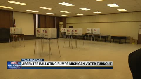 Absentee ballots give Michigan voter turnout numbers a bump