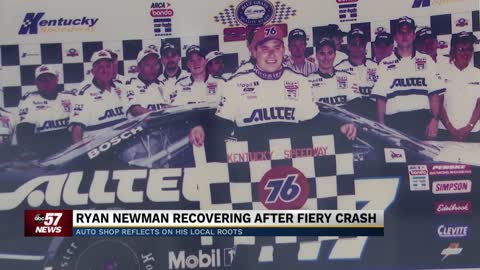 Auto shop reflects on Ryan Newman's local roots as he recovers...