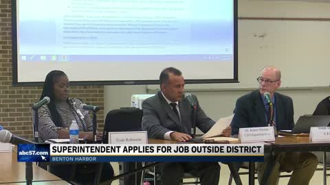 Benton Harbor Area Schools Superintendent is considering leaving the school district less than a year into the job