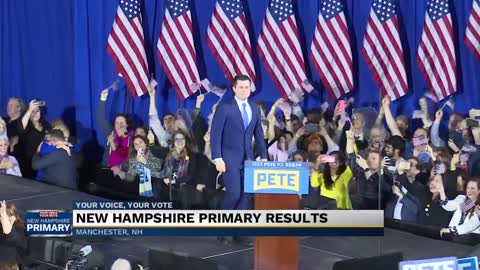 Bernie Sanders claims victory in New Hampshire as Buttigieg trails closely behind
