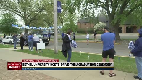 Bethel University holding drive-through commencement for graduating...
