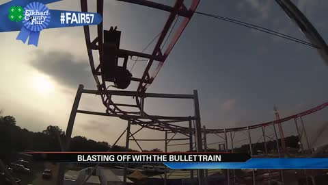 BulletTrain fires off for the first time: Elkhart fair's new ride