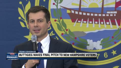Pete Buttigieg wraps up campaigning in New Hampshire before primaries