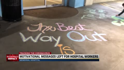 Child Life Team leaves motivational messages at Memorial Hospital