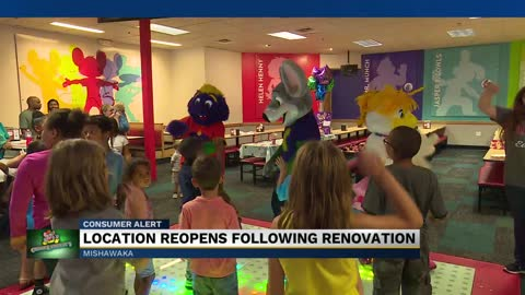 Chuck E. Cheese in Mishawaka gets a makeover