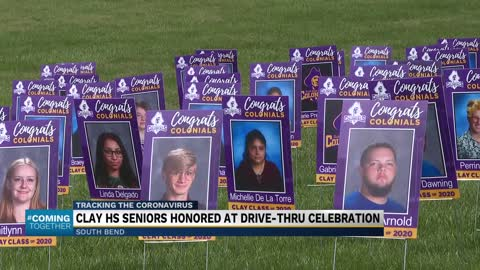 Clay High School holds drive-through graduation ceremony for...