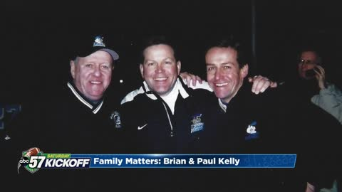 Coach Kelly's father, Paul, watches as his son lives out his dream