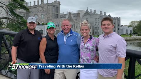 Coach Kelly 'went back to the homeland' with family vacation in Ireland