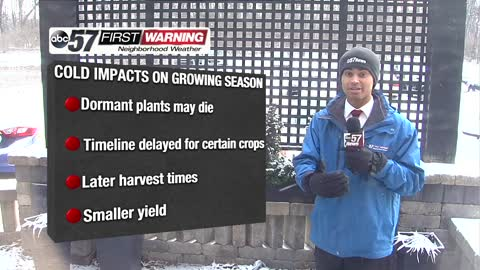 Bitter cold and lasting snow may affect growing season