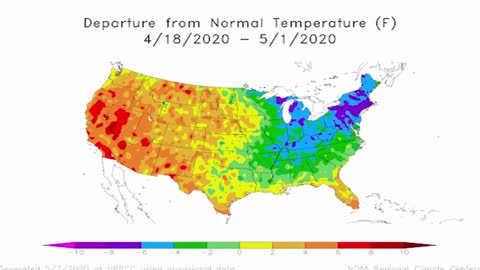 Cold in the east, hot in the west: spring temperature disparity