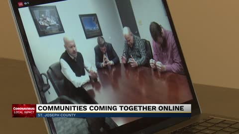 Community comes together through online learning, music and prayer
