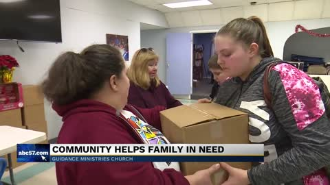 Community helps family in need