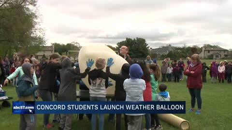 Concord East Side Elementary School launches weather balloon