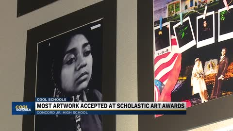 Cool Schools: Concord Jr. High School art program helping students win awards, develop passion