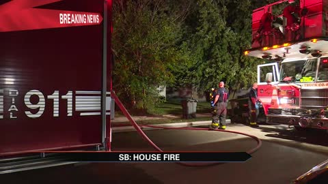 Crews battle house fire on South Bend's west side