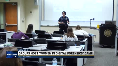 Cyber Crimes Unit holds first camp for women in digital forensics at Notre Dame