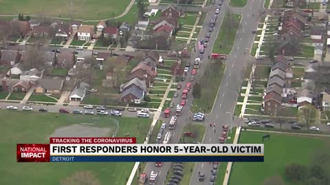 Detroit community honors COVID-19 child victim of two first responders