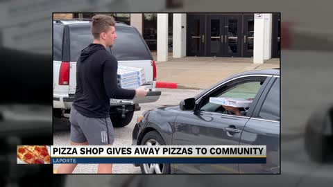 Domino's in La Porte gives out 250 free pizzas