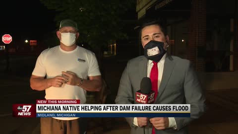 Michiana native traveling across country to aid in Midland dam floods