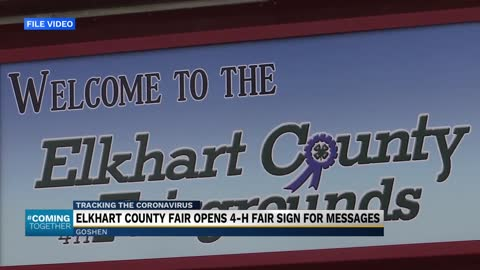 Elkhart county fair opens 4-h fair sign for messages