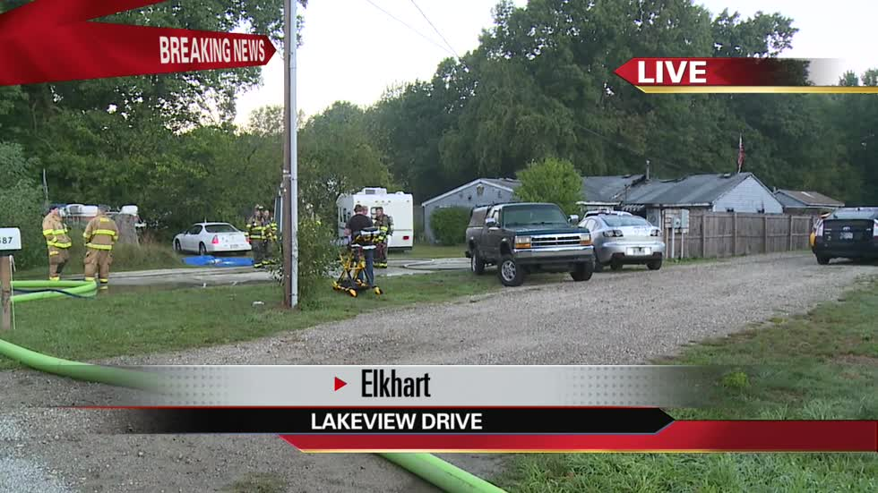 Structure fire in Elkhart County