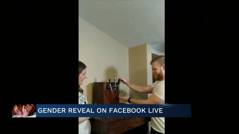 Meteorologist Emily Kennedy holds gender reveal on Facebook Live