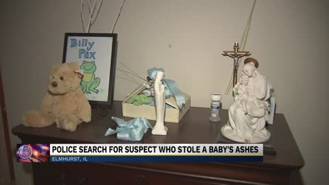 Family devastated after burglar steals baby's ashes from home