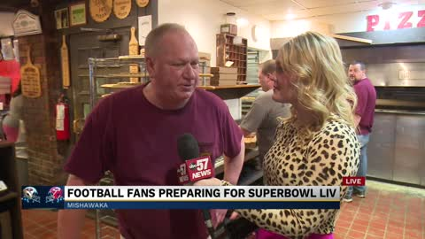 Football fans preparing for superbowl liv