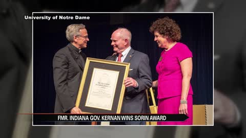 Former Governor Joe Kernan receives Sorin Award