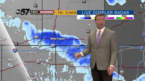 Next round of snow / wintry weather arrives Sunday