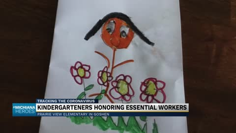 Goshen kindergarteners pay tribute to essential workers