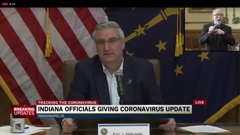 Governor Holcomb provides updates on the state's response to...