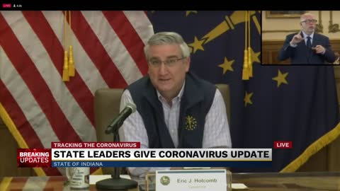 Governor Holcomb press conference on COVID-19 response