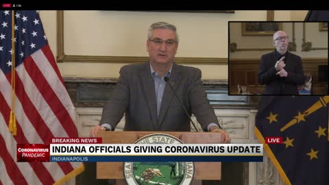 Governor Holcomb press conference on COVID-19