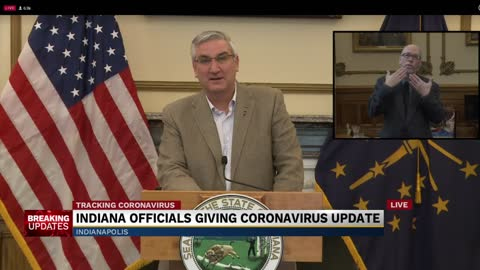 Governor Holcomb provides update to state's response to COVID-19