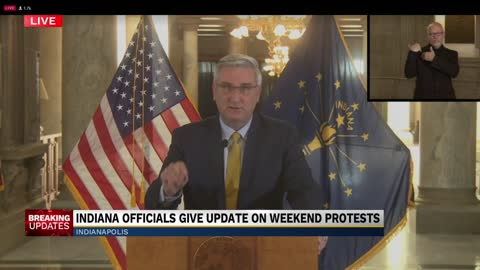 Governor Holcomb, public safety officials address weekend protests