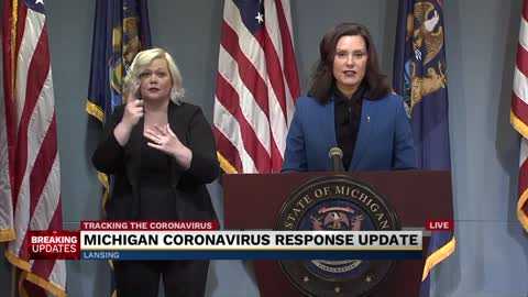 Governor Whitmer provides update on state's response to COVID-19