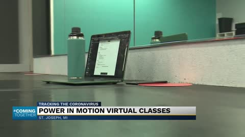 Gym academy continues classes through video conferencing