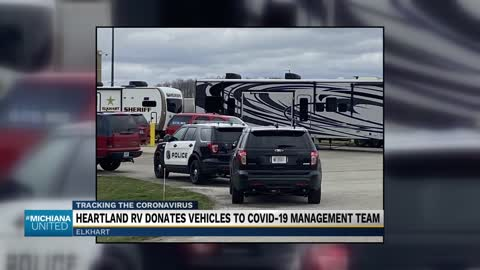 Heartland RV donates 3 RVs to Elkhart County for COVID-19 response