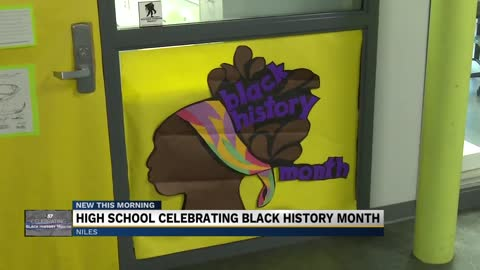 High School celebrating Black History Month