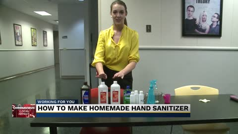 Hand sanitizer in a pinch; you can make your own at home