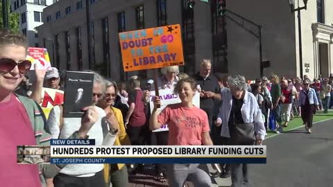 'Night Without Libraries:' Hundreds protest proposed St. Joseph Co. library funding cuts