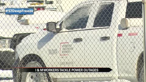 I&M workers tackle power outages