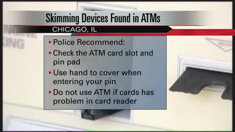 Skimmers found in more than a dozen ATMs