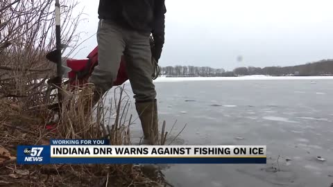 Indiana DNR warns against fishing on ice