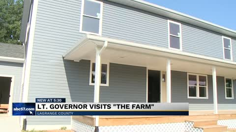 "Indiana's Lieutenant Governor visits ""The Farm"" in LaGrange County"